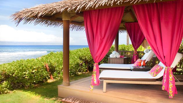 Hyatt Regency Maui Ocean front cabana