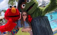 Sesame Street characters Elmo and Oscar the Grouch