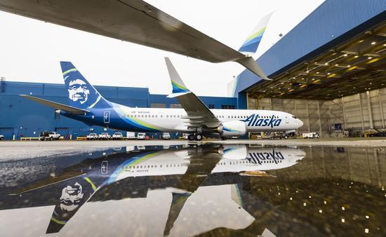 Alaska Airlines' Boeing 737-9 MAX.