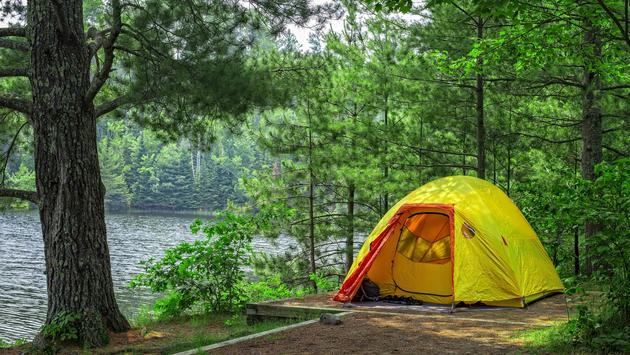 A campsite in Minnesota's Voyageurs National Park