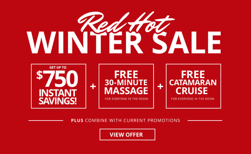 Beaches Resorts Red Hot Winter Sale
