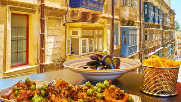 Rabbit stew in Valletta, Malta