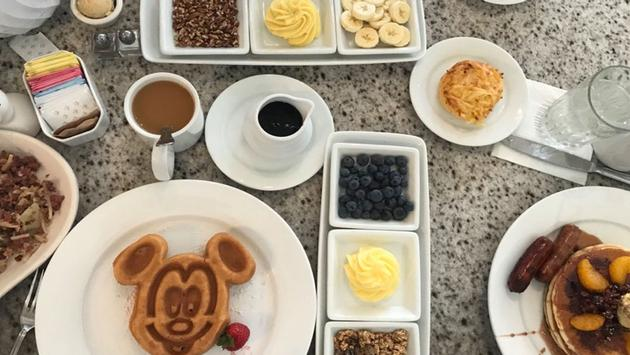 Breakfast from the Grand Floridian Cafe