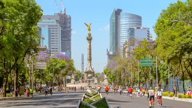 Paseo de la Reforma in Mexico City, Mexico