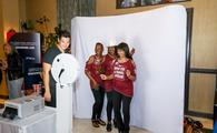 Travel advisors taking a photo during a Carnival Cruise Line  WUATA party in Pasadena
