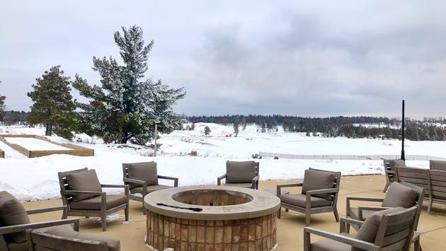 Firepit area at Sand Valley