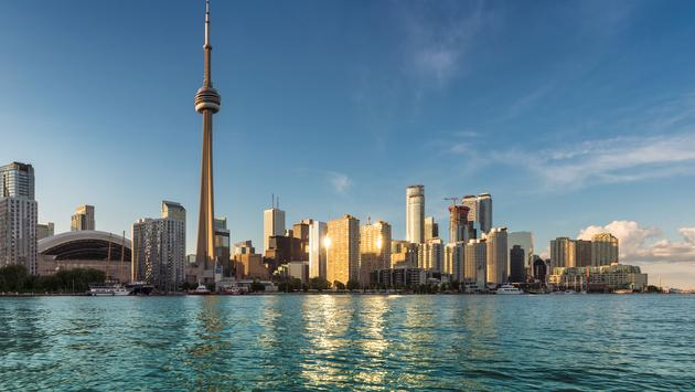 Toronto skyline at sunset, Canada