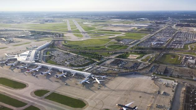 Aerial view of Chicago's O'Hare International Airport
