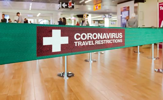 Warning of travel restriction in airport