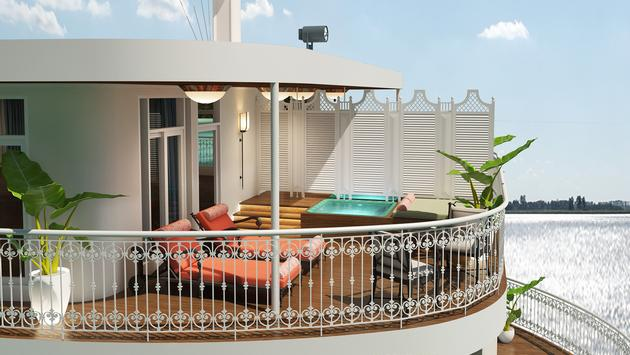 Royal suite onboard the Mekong Jewel