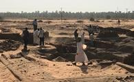 An archeological dig in Sudan