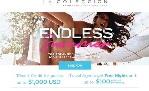 Endless Summer Promotion at La Colección Resorts by Fiesta Americana Saves up to 20% with Bonus Credits