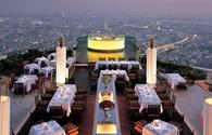 Sirocco, the world's highest open-air restaurant