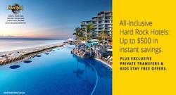 All-Inclusive Hard Rock Hotels: Up to $500 in instant savings
