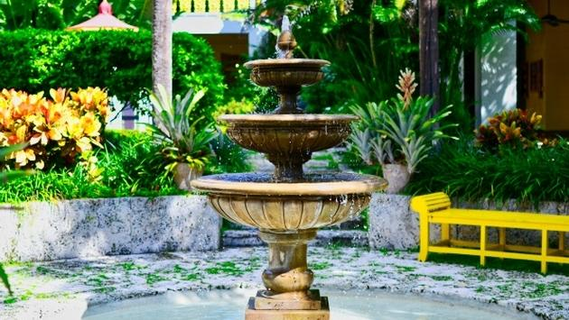 Fountain at Bonnet House in Fort Lauderdale, Florida