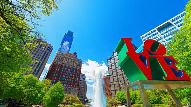 Love Park in Philadelphia, Pennsylvania