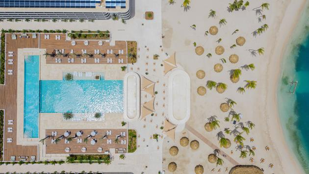Aerial view of the new Curio Curacao Resort