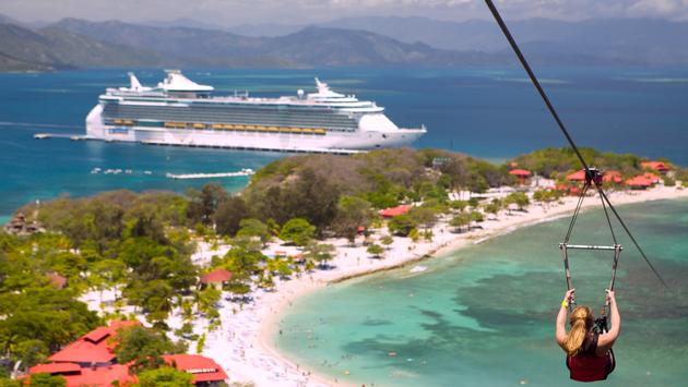 Royal Caribbean's Freedom of the Seas at Labadee, the cruise line's private destination.