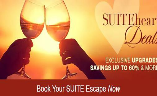 SUITEheart Deals: Book a Suite Escape. Savings up to 60% + exclusive upgrades & more