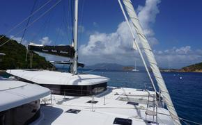 Luxury catamaran in British Virgin Islands