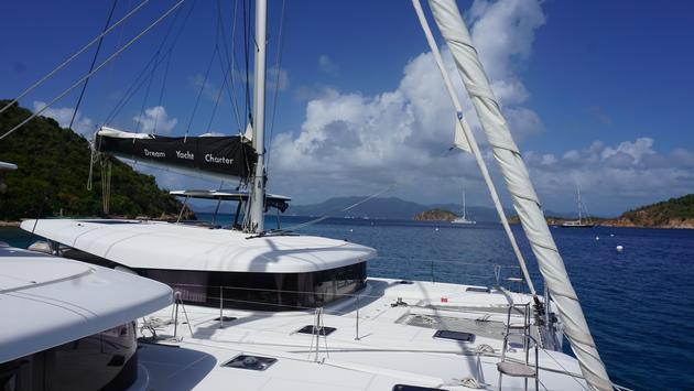 Luxury catamaran in British Virgin Islands