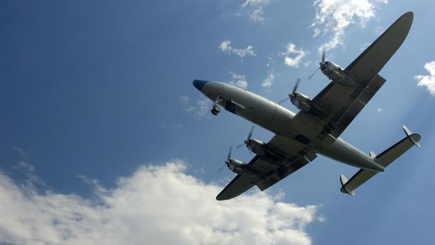 A Lockheed Constellation in flight