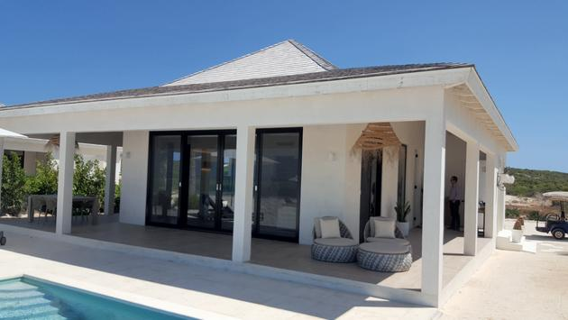 Exterior view of Ambergris Cay suite.