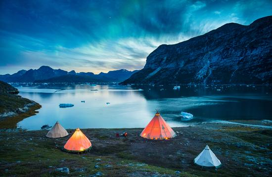 Solar powered huts in Greenland