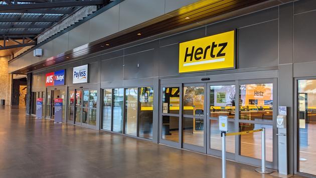 Hertz car rental sign