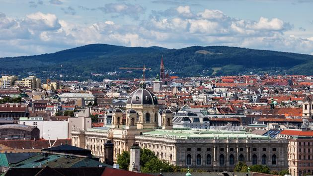 Vienna City Cityscape With Natural History Museum