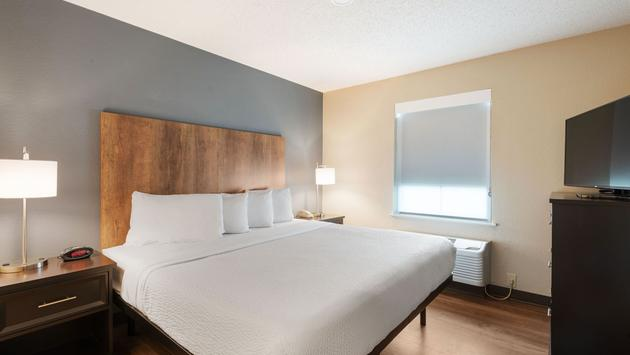 Guest room at Extended Stay America