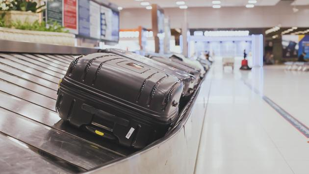 An airport baggage carousel