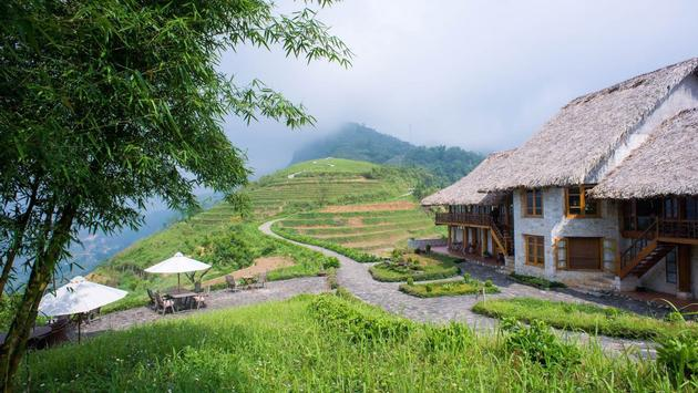 The main building at Topas Ecolodge in Vietnam