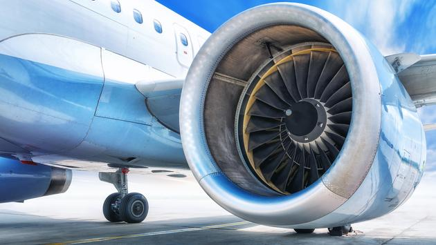 A passenger jet engine