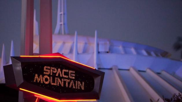 Space Mountain at Disneyland in Anaheim, California