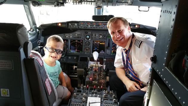 kid, pilot, cockpit, plane