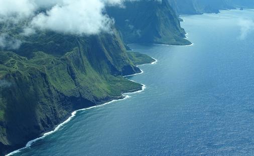 The Northern Coast of Molokai, Hawaii