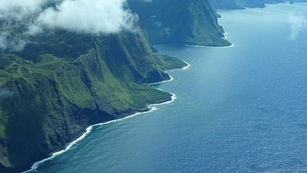 The Northern Coast of Molokai, Hawaii