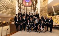Celebrity Cruises' all-female bridge and onboard leadership teams.