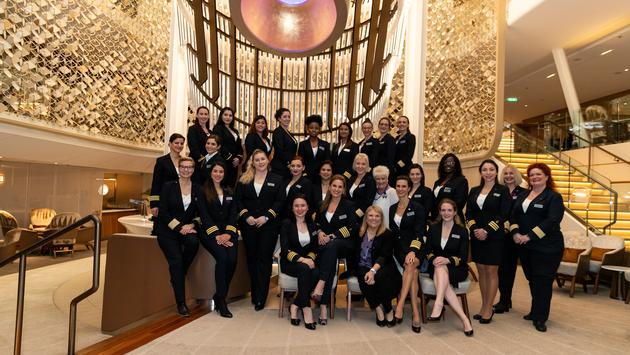 Celebrity Cruises' all-female bridge and onboard leadership teams.