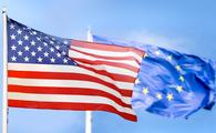 Europe and USA flag