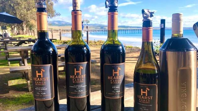 A selection of wines from Hearst Ranch Winery in Cambria, California