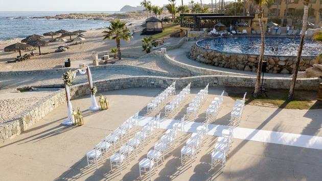 Wedding ceremony set up at Grand Fiesta Americana Los Cabos All Inclusive Golf & Spa