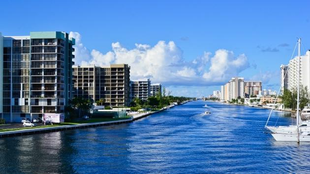 The Intracoastal Waterway in Fort Lauderdale, Florida