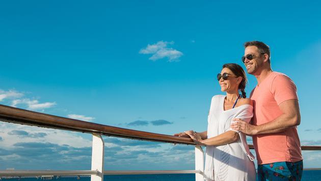 Couple onboard Bahamas Paradise Cruise Line