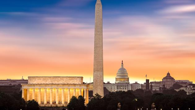 Washington iconic monuments
