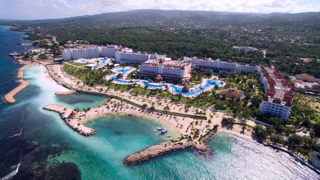 Aerial view of the Bahia Principe Luxury Runaway Bay