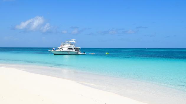 A deserted beach on Barbuda
