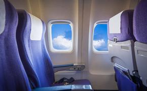 plane, seats, interior