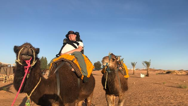 accessible travel, camels, sahara, morocco